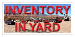 INVENTORY IN YARD EQUIPMENT